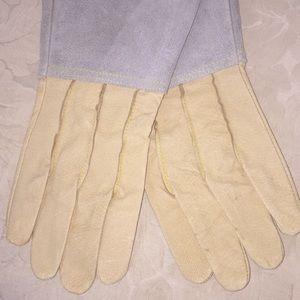 Accessories - Unisex Two Tone Suede Gloves